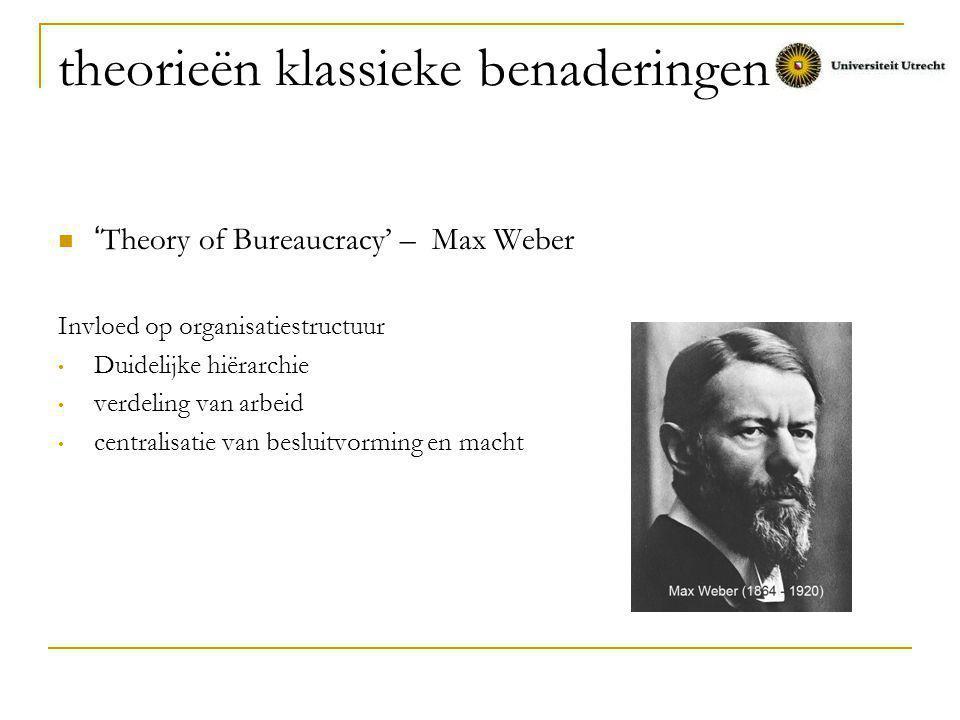 theorieën klassieke benaderingen