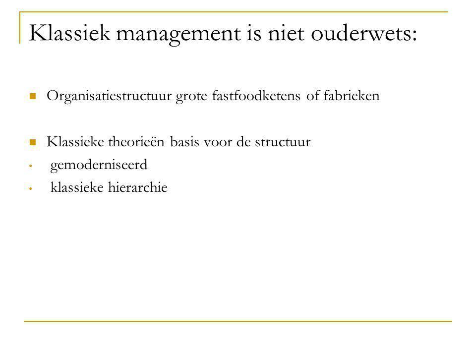 Klassiek management is niet ouderwets: