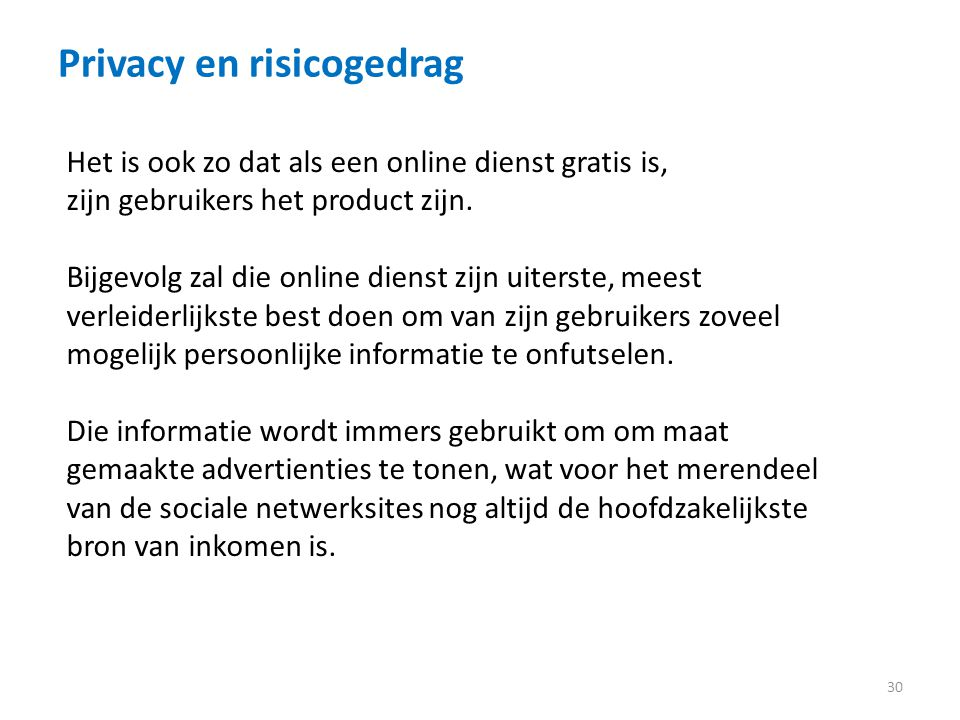 Privacy en risicogedrag