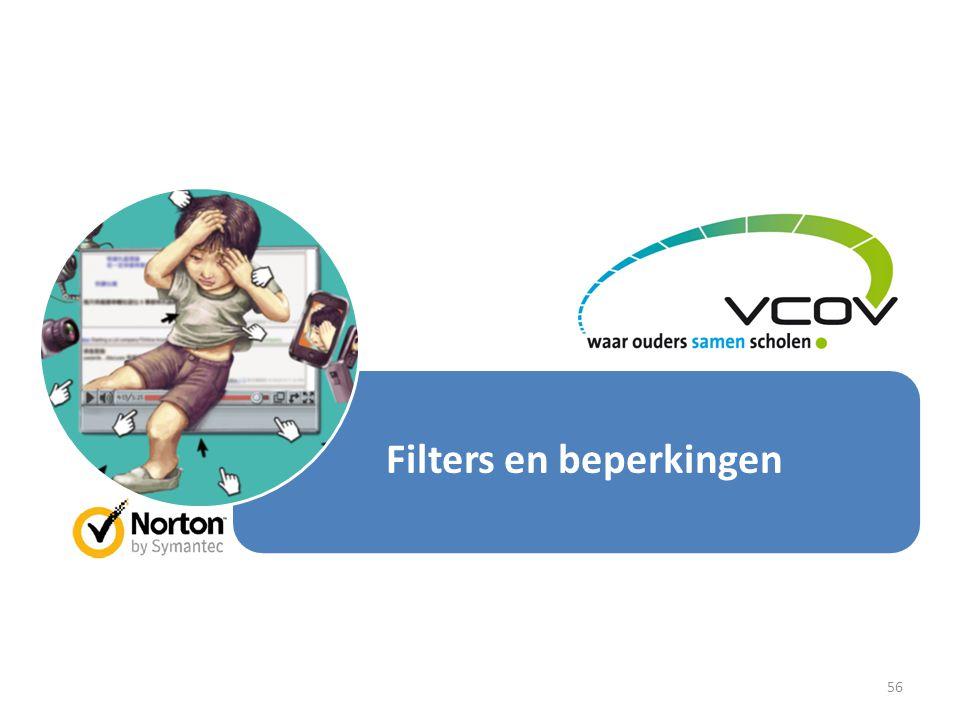Filters en beperkingen