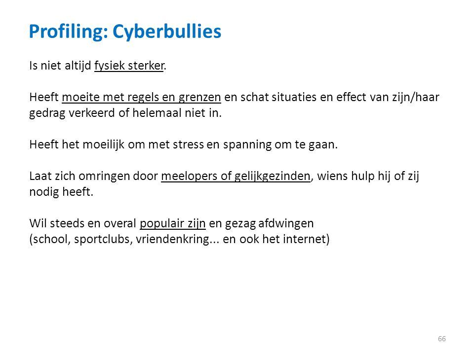 Profiling: Cyberbullies