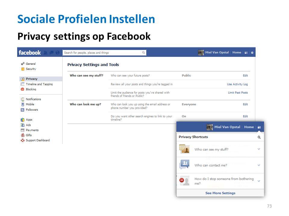Sociale Profielen Instellen