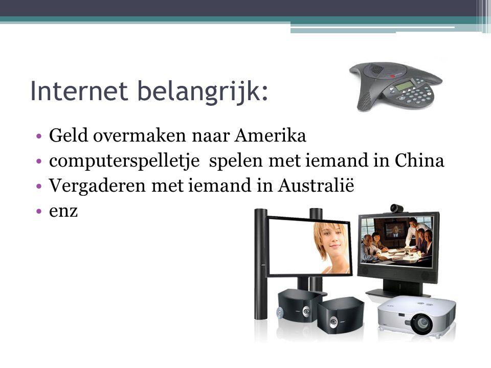 Internet belangrijk: Geld overmaken naar Amerika