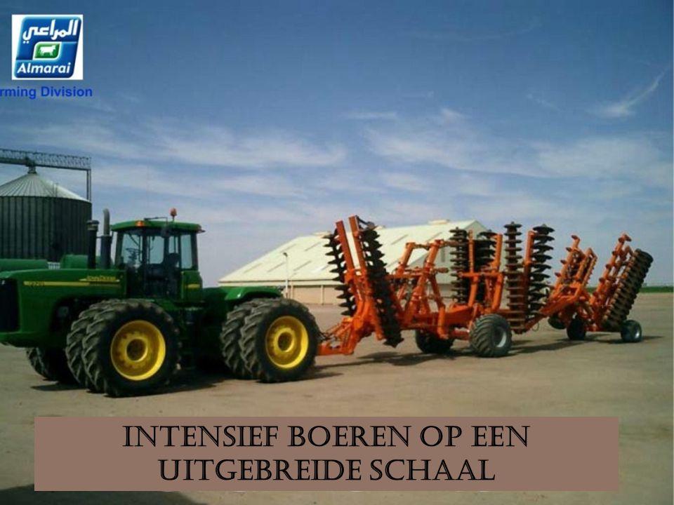 Intensief boeren op een uitgebreide schaal