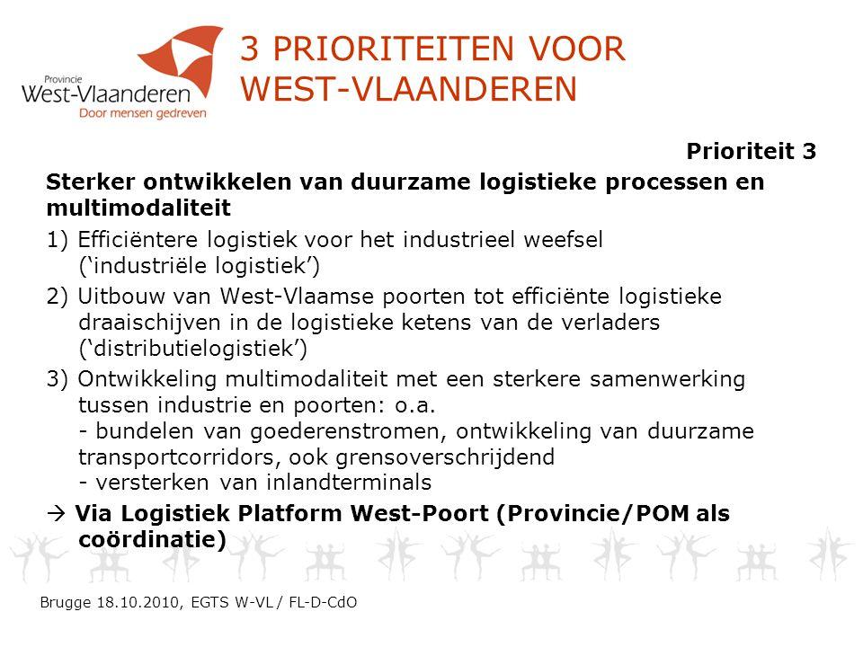 3 prioriteiten voor West-Vlaanderen