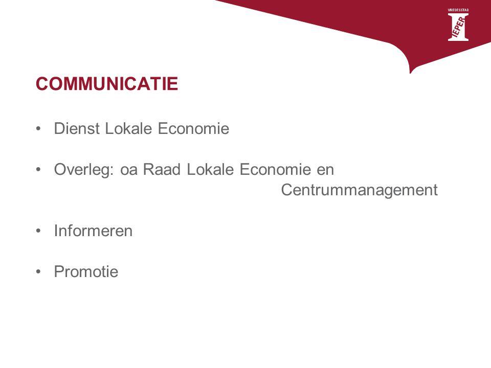 COMMUNICATIE Dienst Lokale Economie