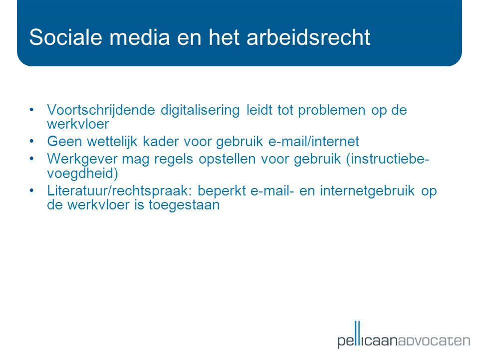 Sociale media en het arbeidsrecht