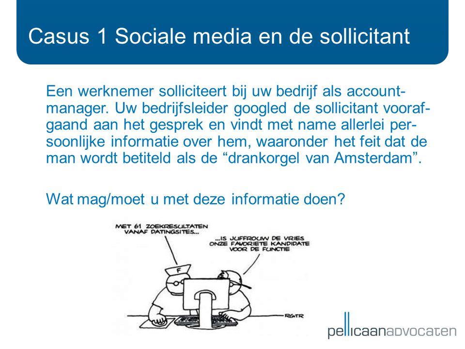 Casus 1 Sociale media en de sollicitant