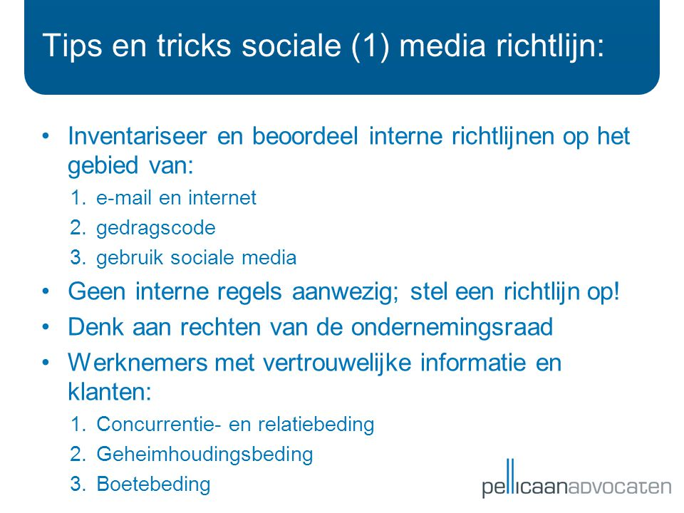 Tips en tricks sociale (1) media richtlijn: