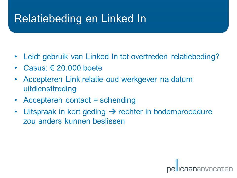 Relatiebeding en Linked In