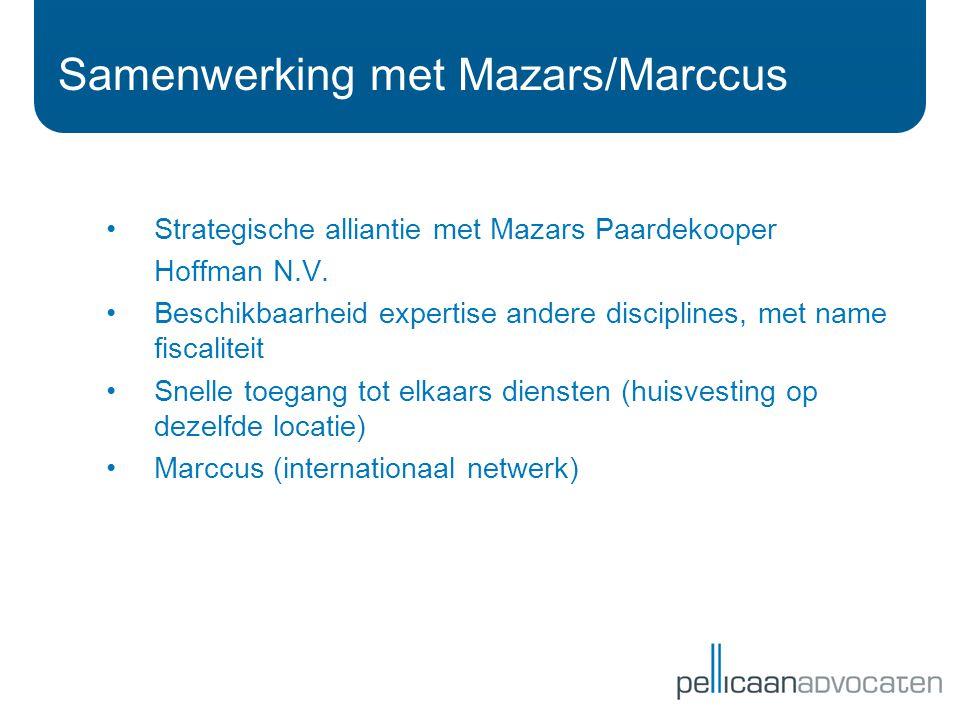 Samenwerking met Mazars/Marccus