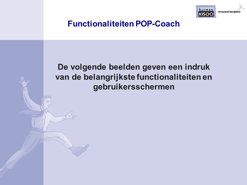 Functionaliteiten POP-Coach
