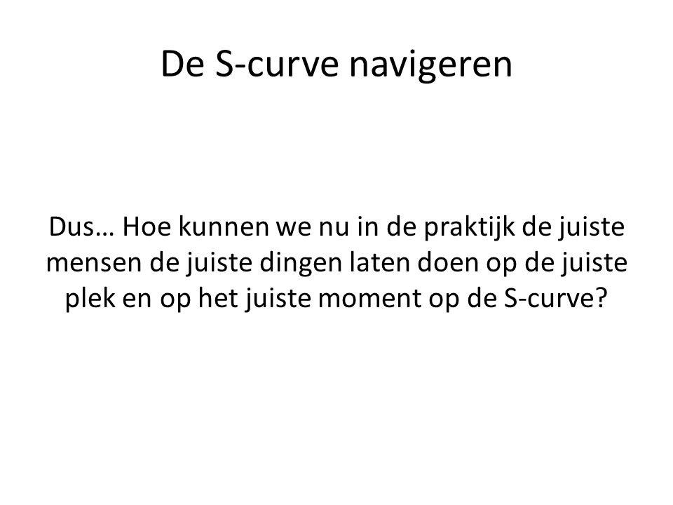 De S-curve navigeren