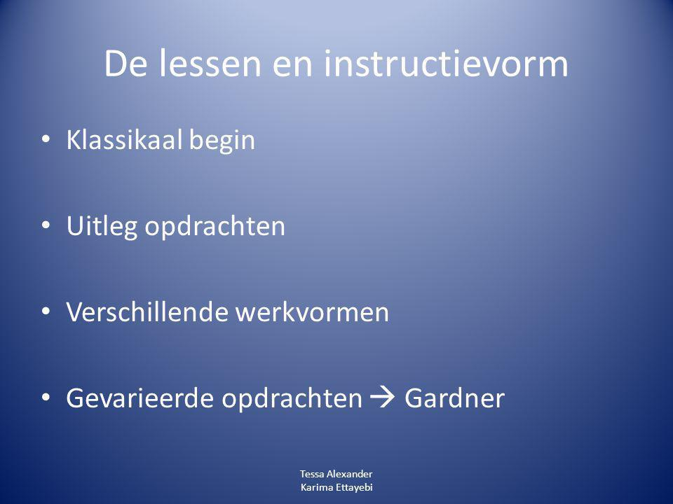 De lessen en instructievorm