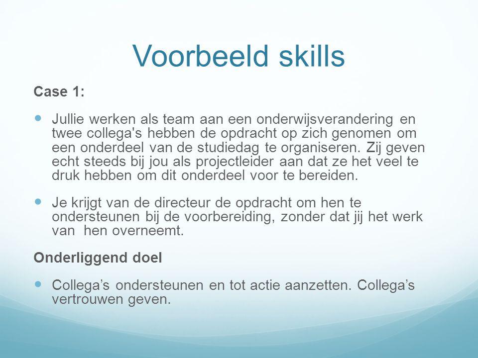 Voorbeeld skills Case 1:
