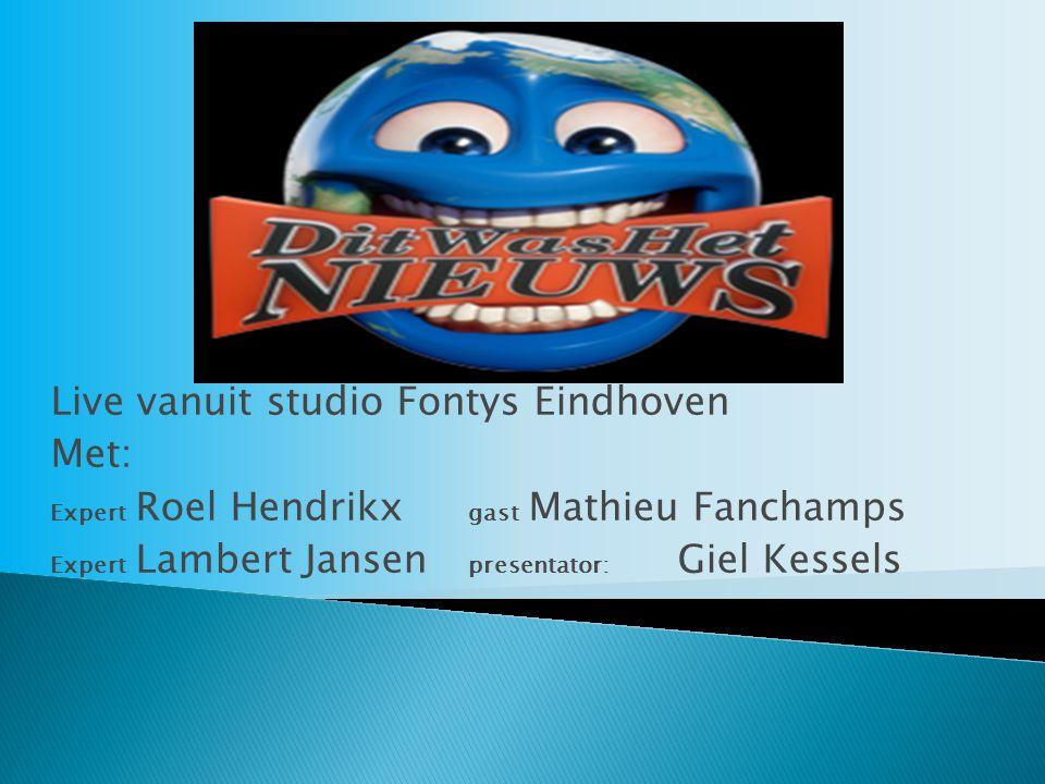 Live vanuit studio Fontys Eindhoven Met: