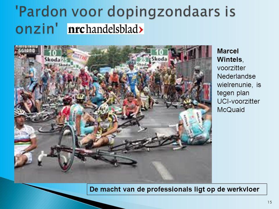 Pardon voor dopingzondaars is onzin