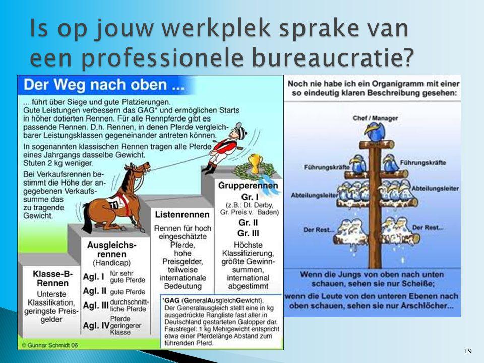 Is op jouw werkplek sprake van een professionele bureaucratie