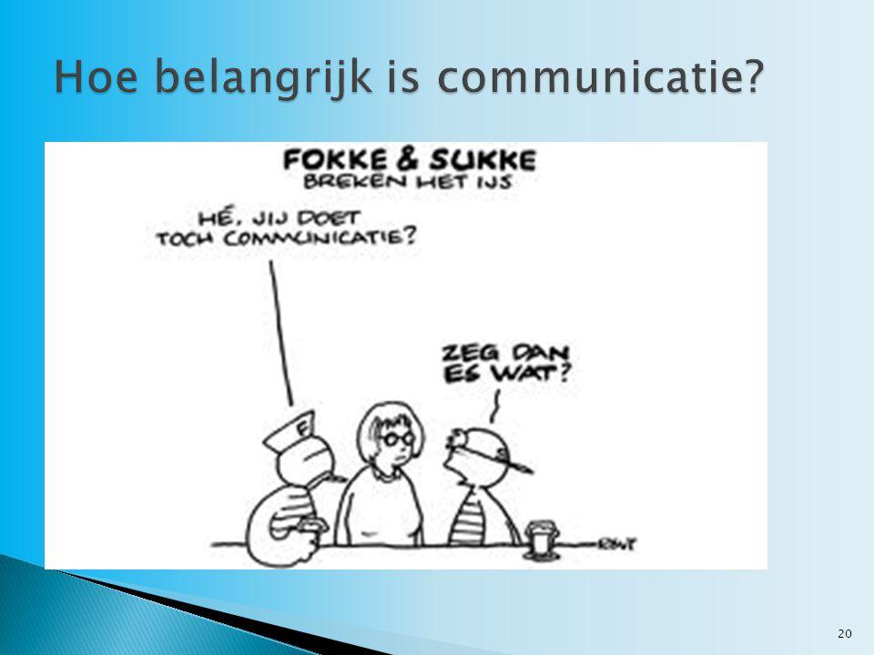 Hoe belangrijk is communicatie
