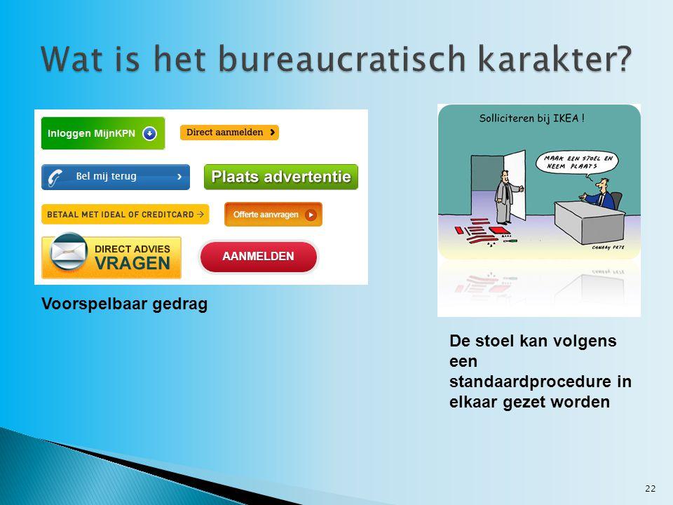Wat is het bureaucratisch karakter
