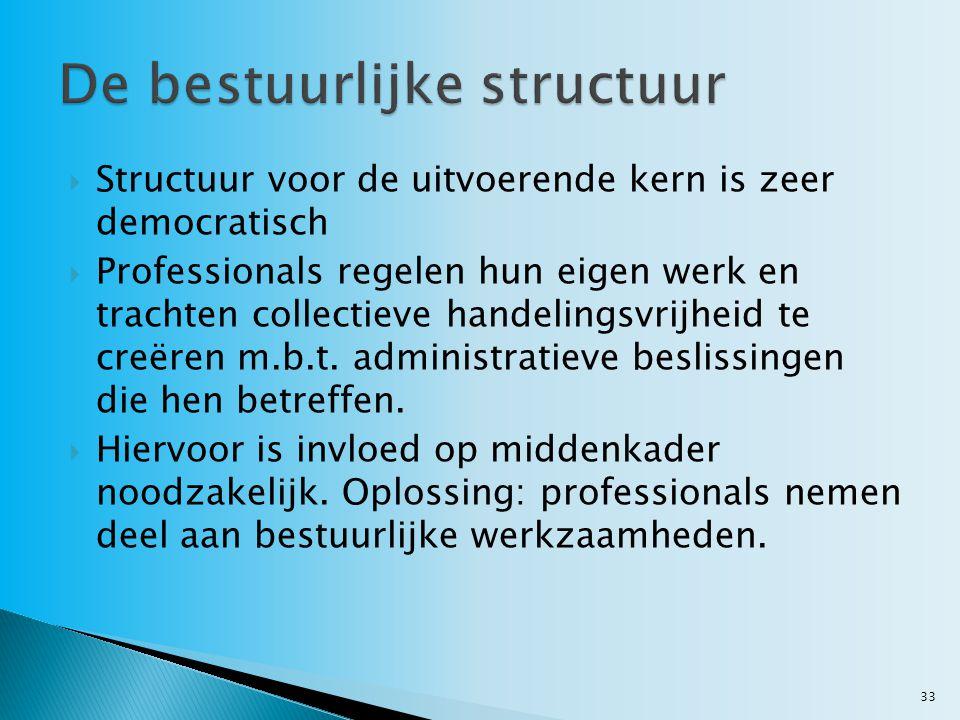 De bestuurlijke structuur