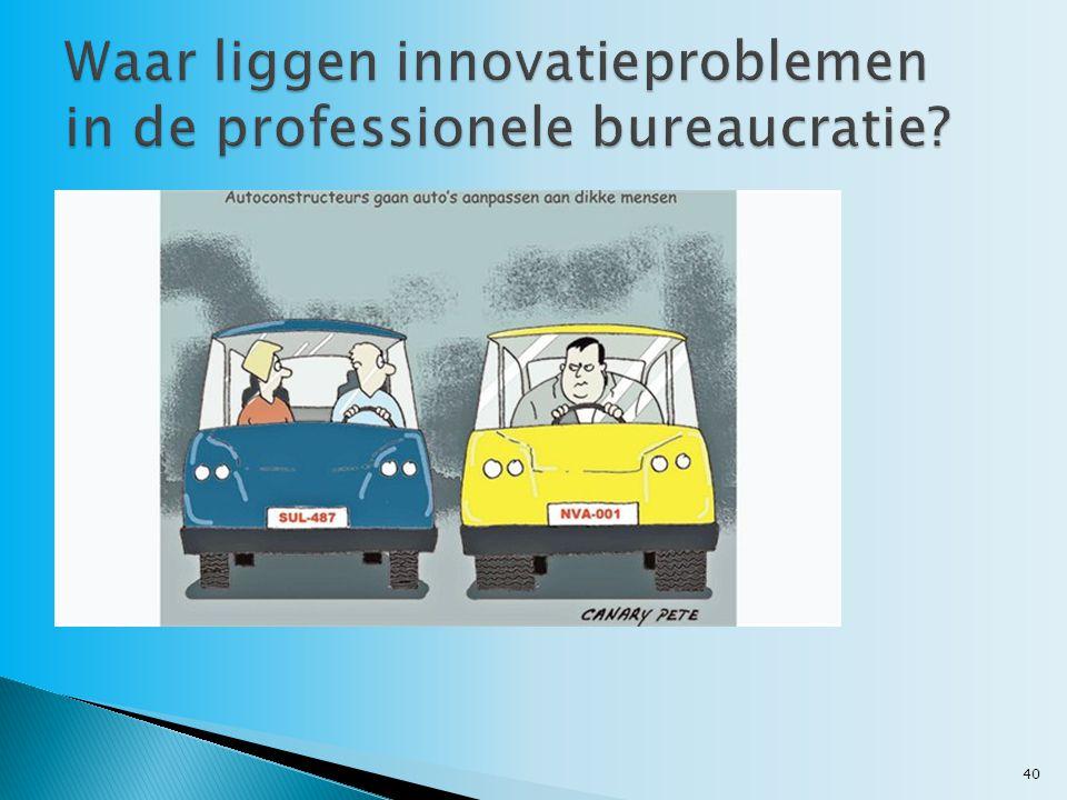 Waar liggen innovatieproblemen in de professionele bureaucratie