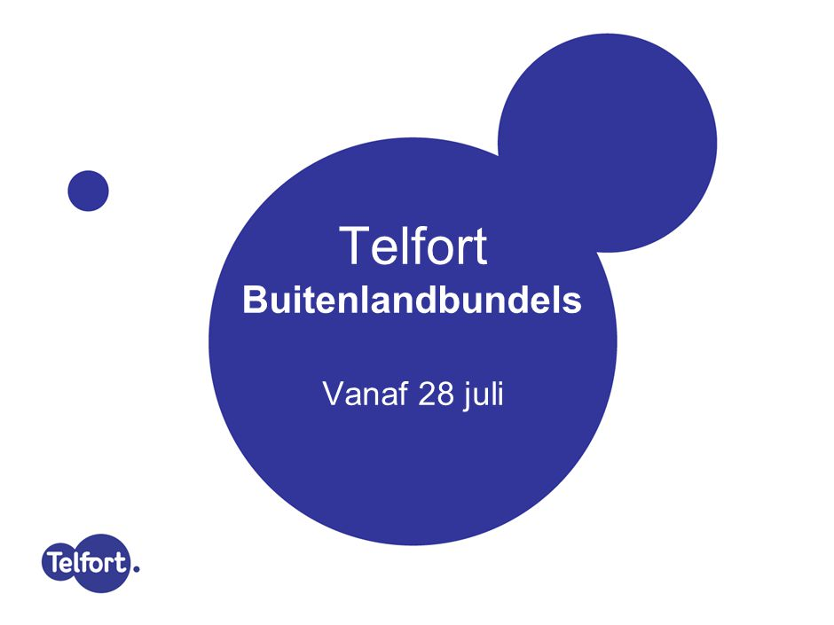 Telfort Postpaid Buitenlandbundels - live op 28 juli