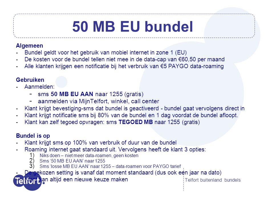 Telfort Prepaid Buitenlandbundels - live op 28 juli