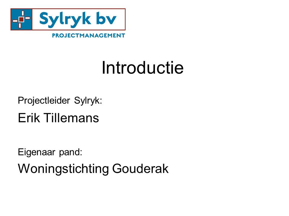Introductie Erik Tillemans Woningstichting Gouderak