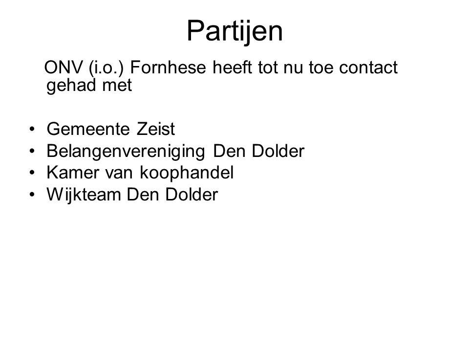 Partijen ONV (i.o.) Fornhese heeft tot nu toe contact gehad met