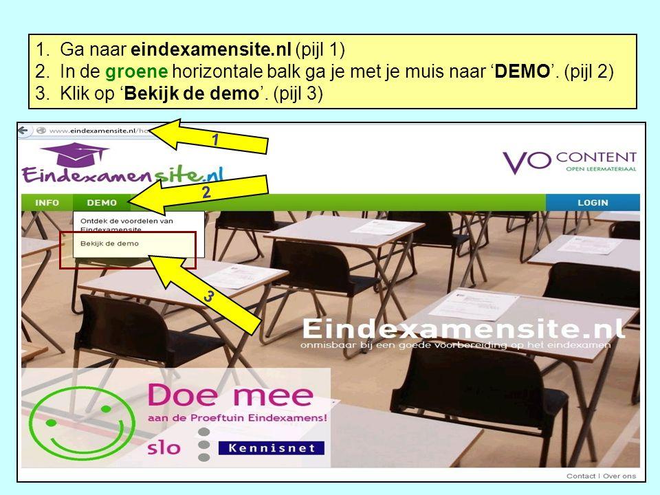 Ga naar eindexamensite.nl (pijl 1)