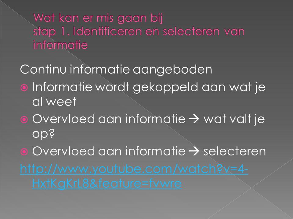 Continu informatie aangeboden