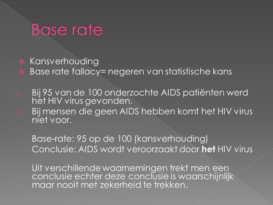 Base rate Kansverhouding