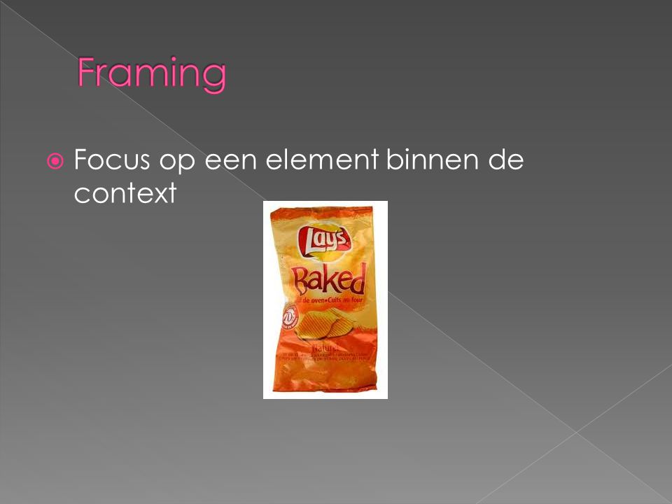 Framing Focus op een element binnen de context