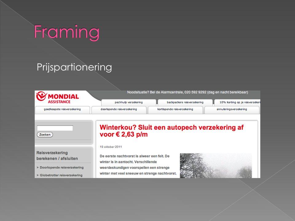 Framing Prijspartionering