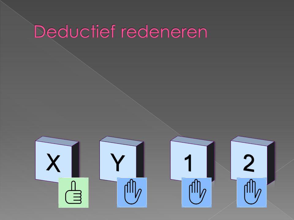 X Y 1 2 Deductief redeneren 6-4-2017 Als x dan 1