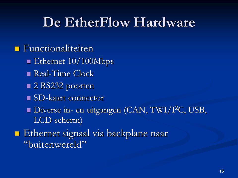De EtherFlow Hardware Functionaliteiten