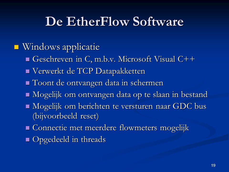 De EtherFlow Software Windows applicatie