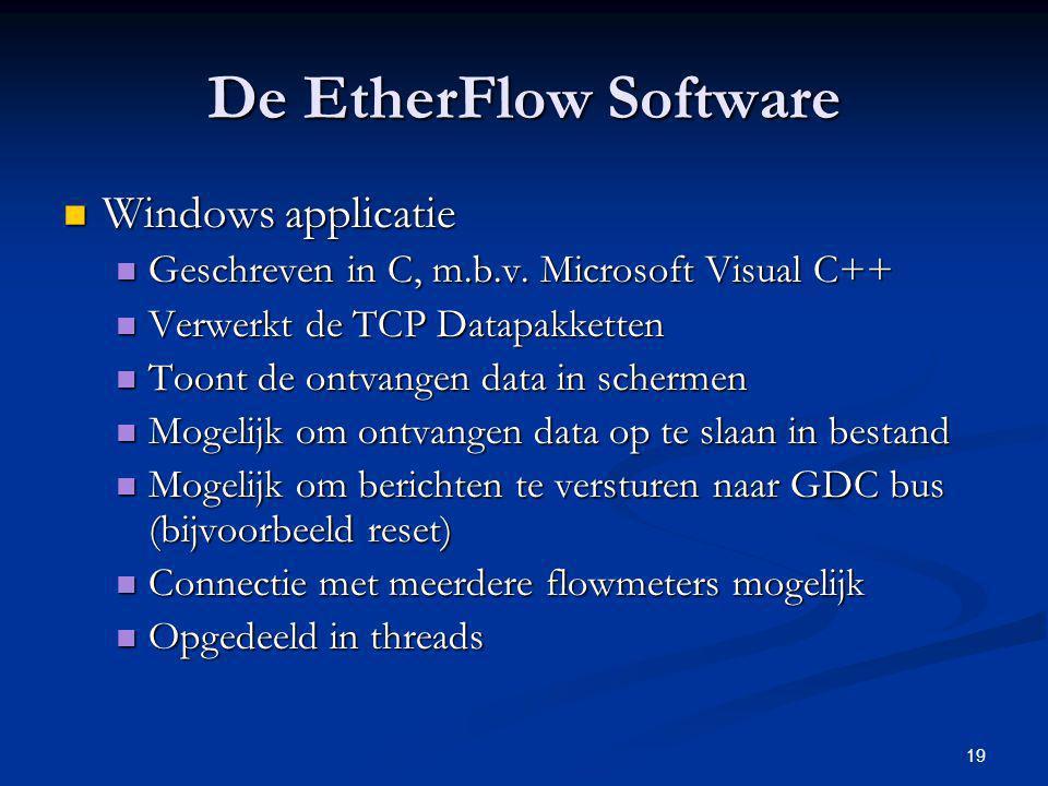 De EtherFlow Software Windows applicatie