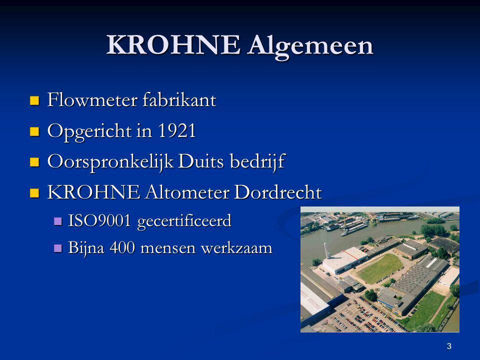 KROHNE Algemeen Flowmeter fabrikant Opgericht in 1921