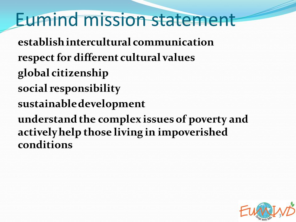 Eumind mission statement