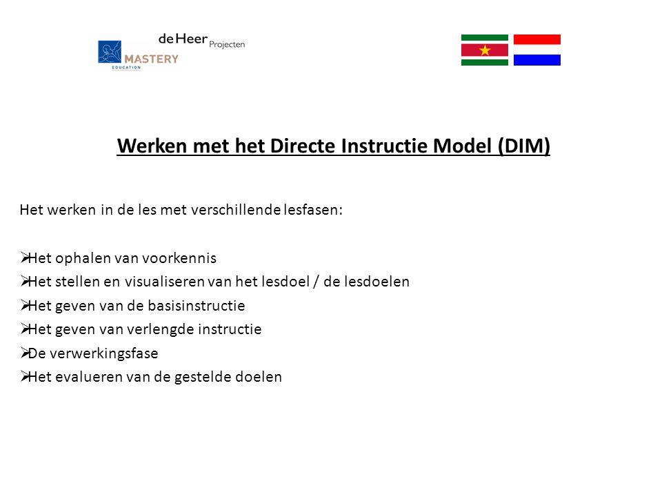 Werken met het Directe Instructie Model (DIM)