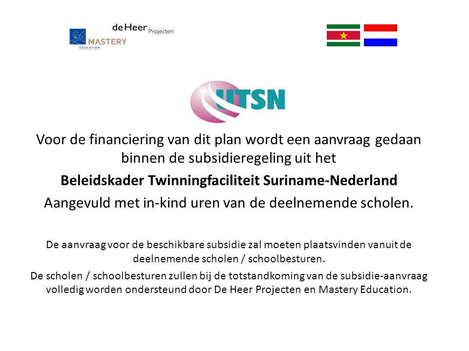 Beleidskader Twinningfaciliteit Suriname-Nederland