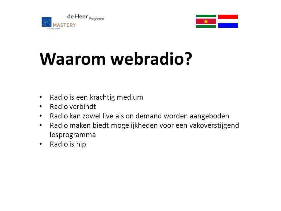 Waarom webradio Radio is een krachtig medium Radio verbindt