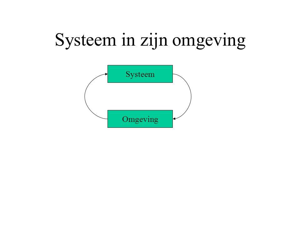 Systeem in zijn omgeving