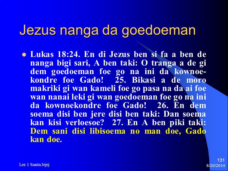 Jezus nanga da goedoeman
