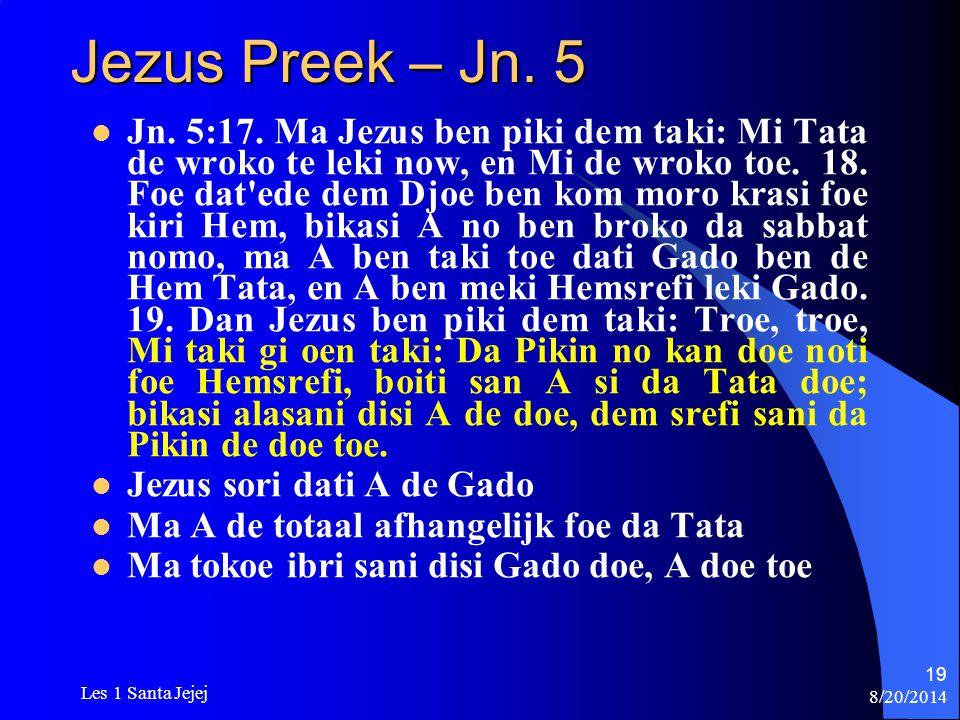 Jezus Preek – Jn. 5
