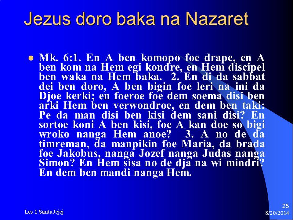 Jezus doro baka na Nazaret