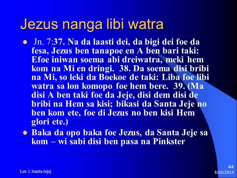 Jezus nanga libi watra