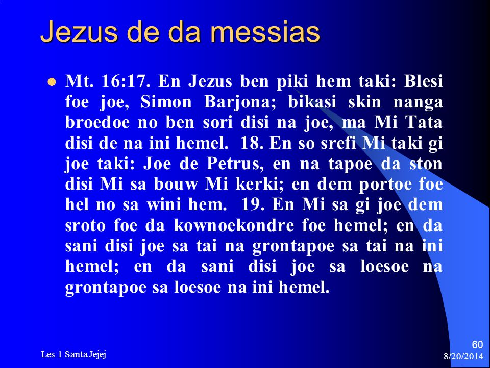 Jezus de da messias